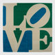 Robert Indiana (American, b. 1928-) Chosen Love Skein dyed, hand carved and hand tufted archival New Zealand wool on s...