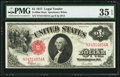 Large Size:Legal Tender Notes, Fr. 39 $1 1917 Mule Legal Tender PMG Choice Very Fine 35 EPQ.. ...