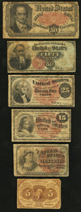 Fractional Currency:First Issue, Fractionals Very Good.. ... (Total: 6 notes)