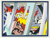 Roy Lichtenstein (1923-1997) Reflections on Crash, from Reflection Series, 1990 Lithograp