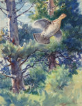 Fine Art - Work on Paper, Aiden Lassell Ripley (American, 1896-1969). Through thePines and Through the Bush (double-sided work), 1937.Waterc...
