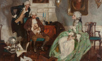 Dean Cornwell (American, 1892-1960) Old Fashion, 1925 Oil on canvas 26-1/2 x 44-1/2 inches (67.3