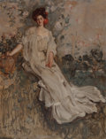 Fine Art - Painting, American, Albert Beck Wenzell (American, 1864-1917). CharlotteFairchild, 1907. Oil on canvas. 42 x 32 inches (106.7 x 81.3cm). S...