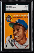 Baseball Cards:Singles (1950-1959), 1954 Topps Hank Aaron #128 SGC 35 Good+ 2.5....