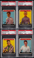 Basketball Cards:Lots, 1933 Sport Kings PSA EX 5 Graded Lot of 4 - Jewtraw, McLean,McNamara & Richards....