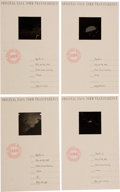 Explorers:Space Exploration, Apollo 11 Collection of Four 70mm Original NASA Transparencies inPresentation Folders. ... (Total: 4 Items)