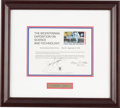 Autographs:Celebrities, Jack Swigert Signed Bicentennial Exposition on Science andTechnology Print in Framed Display. ...