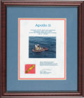 Explorers:Space Exploration, Apollo 11 Flown Kapton Foil Segment on Presentation Certificate inFramed Display. ...