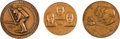 Explorers:Space Exploration, Apollo 11 Medals: Three Large Bronze, Issued by Medallic Art. ...