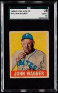 Baseball Cards:Singles (1940-1949), 1948 Leaf Honus Wagner #70 SGC 35 Good+ 2.5....