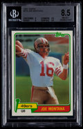 Football Cards:Singles (1970-Now), 1981 Topps Joe Montana #216 BGS NM-MT+ 8.5....