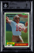 Football Cards:Singles (1970-Now), 1981 Topps Joe Montana #216 BGS Mint 9....