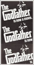 "Movie Posters:Crime, The Godfather (Paramount, 1972). Three Sheet (41"" X 79"") &Uncut Pressbook (6 Pages 12.25"" X 15""). Crime.. ... (Total: 2Items)"