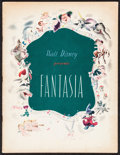 """Movie Posters:Animation, Fantasia (RKO, 1940). Program (30 Pages, 9.75"""" & 12.75""""). Animation.. ..."""