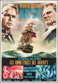 "Movie Posters:Adventure, Mutiny on the Bounty (MGM, 1962). Italian 4 - Fogli (53"" X 76.5"").Adventure.. ..."