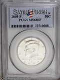 Kennedy Half Dollars: , 2005-P 50C Satin Finish MS68 PCGS. PCGS Population (731/225).(#96788)...