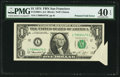Error Notes:Foldovers, Printed Fold Error Fr. 1908-L $1 1974 Federal Reserve Note. PMGExtremely Fine 40 EPQ.. ...