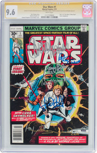 Star Wars #1 Cast-Signed Signature Series (Marvel, 1977) CGC NM+ 9.6 White pages