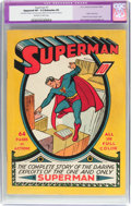 Golden Age (1938-1955):Superhero, Superman #1 (DC, 1939) CGC Apparent VF- 7.5 Extensive (P) Off-whiteto white pages....