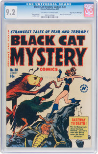 Black Cat Mystery #30 Mile High Pedigree (Harvey, 1951) CGC NM- 9.2 Off-white to white pages