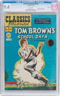 Golden Age (1938-1955):Classics Illustrated, Classics Illustrated #45 Tom Brown's School Days - Original Edition-Vancouver Pedigree (Gilberton, 1948) CGC NM 9.4 White pag...