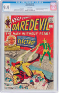 Silver Age (1956-1969):Superhero, Daredevil #2 (Marvel, 1964) CGC NM 9.4 White pages....