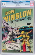 Golden Age (1938-1955):War, Don Winslow of the Navy #4 Mile High Pedigree (FawcettPublications, 1943) CGC NM 9.4 White pages....