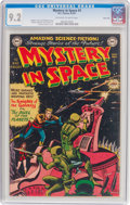 Golden Age (1938-1955):Science Fiction, Mystery in Space #3 River City Pedigree (DC, 1951) CGC NM- 9.2Off-white to white pages....