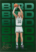 Basketball Collectibles:Others, Circa 2000 Larry Bird Signed Print....