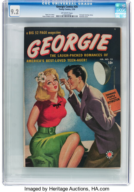 Georgie Comics #25 (Timely, 1950) CGC NM- 9.2 Off-white pages....