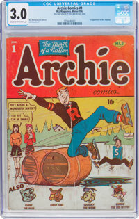 Archie Comics #1 (Archie, 1942) CGC GD/VG 3.0 Cream to off-white pages