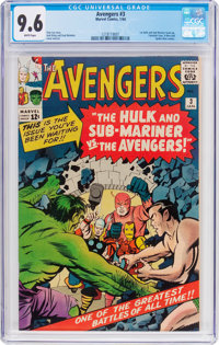 The Avengers #3 (Marvel, 1964) CGC NM+ 9.6 White pages