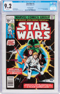 Bronze Age (1970-1979):Science Fiction, Star Wars #1 35 Cent Price Variant (Marvel, 1977) CGC NM- 9.2 White pages....