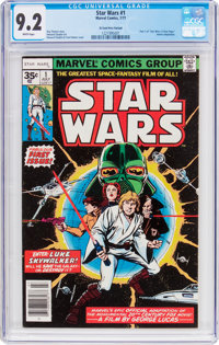 Star Wars #1 35 Cent Price Variant (Marvel, 1977) CGC NM- 9.2 White pages