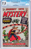 Silver Age (1956-1969):Superhero, Journey Into Mystery #83 (Marvel, 1962) CGC VF- 7.5 Off-white pages....