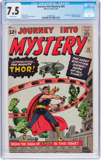 Journey Into Mystery #83 (Marvel, 1962) CGC VF- 7.5 Off-white pages