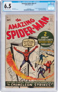 Silver Age (1956-1969):Superhero, The Amazing Spider-Man #1 (Marvel, 1963) CGC FN+ 6.5 Cream tooff-white pages....