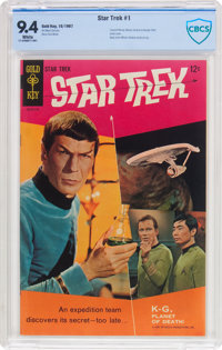 Star Trek #1 (Gold Key, 1967) CBCS NM 9.4 White pages