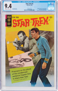 Star Trek #2 (Gold Key, 1968) CGC NM 9.4 Off-white to white pages