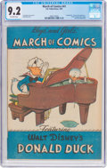 Golden Age (1938-1955):Funny Animal, March of Comics #41 Donald Duck (K. K. Publications, Inc., 1949) CGC NM- 9.2 Off-white pages....