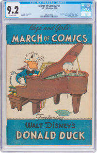 March of Comics #41 Donald Duck (K. K. Publications, Inc., 1949) CGC NM- 9.2 Off-white pages