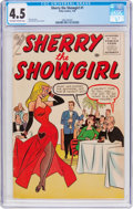 Silver Age (1956-1969):Humor, Sherry the Showgirl #1 (Atlas, 1956) CGC VG+ 4.5 Off-white to white pages....