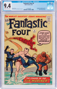 Fantastic Four #4 (Marvel, 1962) CGC NM 9.4 Off-white to white pages