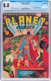 Planet Comics #1 (Fiction House, 1940) CGC VF 8.0 Cream to off-white pages
