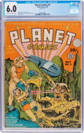 Golden Age (1938-1955):Science Fiction, Planet Comics #5 (Fiction House, 1940) CGC FN 6.0 Cream tooff-white pages....
