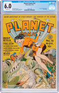 Golden Age (1938-1955):Science Fiction, Planet Comics #15 (Fiction House, 1941) CGC FN 6.0 Off-whitepages....