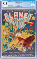 Golden Age (1938-1955):Science Fiction, Planet Comics #6 (Fiction House, 1940) CGC FN- 5.5 Cream tooff-white pages....