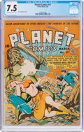 Golden Age (1938-1955):Science Fiction, Planet Comics #17 (Fiction House, 1942) CGC VF- 7.5 Cream tooff-white pages....