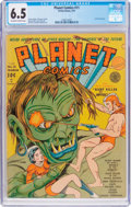 Golden Age (1938-1955):Science Fiction, Planet Comics #11 (Fiction House, 1941) CGC FN+ 6.5 Off-white towhite pages....