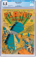 Golden Age (1938-1955):Science Fiction, Planet Comics #9 (Fiction House, 1940) CGC FN- 5.5 Off-whitepages....